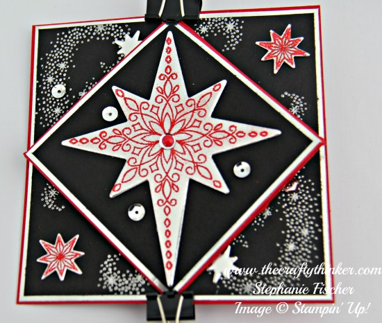 Stampin Up, #thecraftythinker, Christmas Card, Xmas, Diamond Fold, Star of Light, Stampin Up Australia Demonstrator, NSW