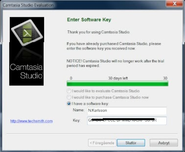camtasia studio 8 serial key and name