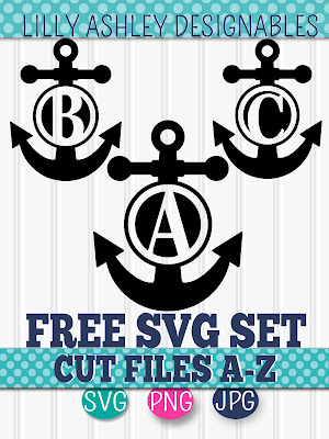 free anchor svg set by lilly ashley