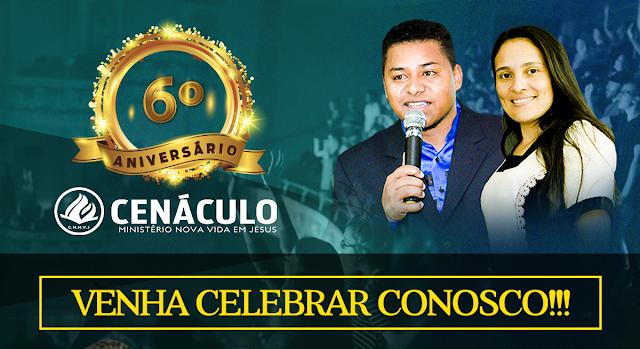 O Cenáculo Nova Vida em Jesus Celebrará seu 6º Aniversário neste Domingo, 19/AGO, as 13h.