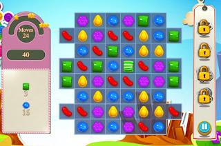Jogo grátis de match-3 Candy Crush Saga online