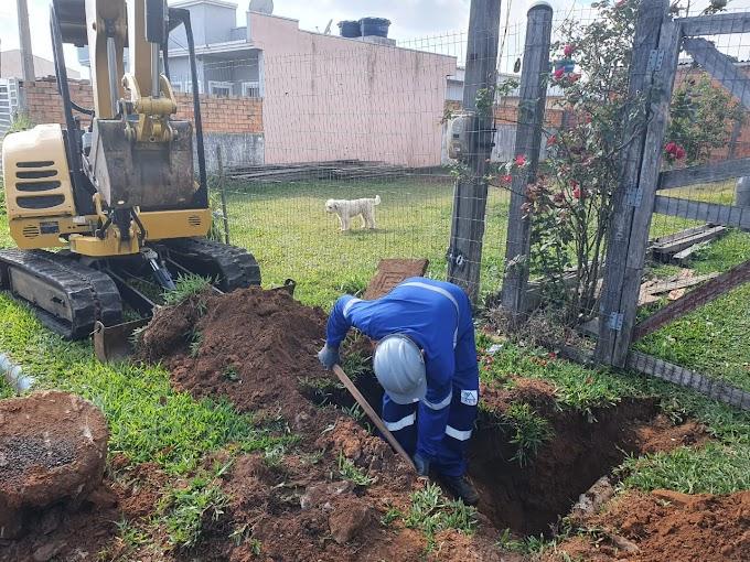 Iniciam as obras de conexão à rede de esgoto de Cachoeirinha