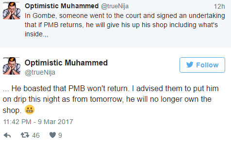 Man gambles his shop over Buhari's death, loses