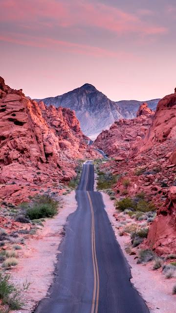 beautiful wallpaper road desert