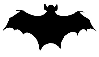bat silhouette halloween image digital clip art