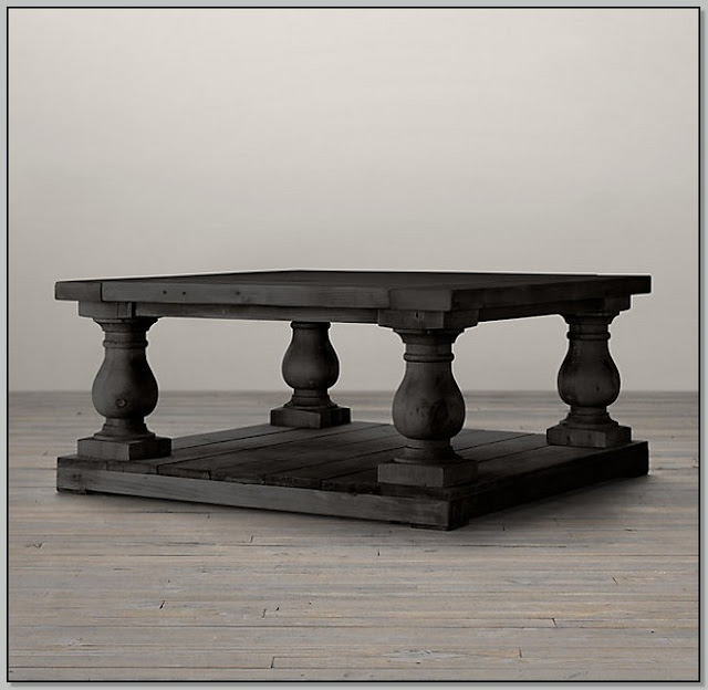 Balustrade Coffee Table Square