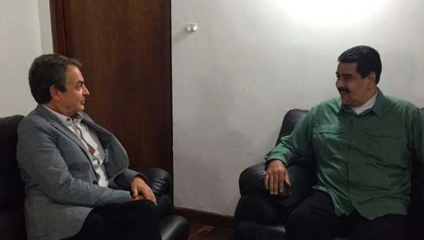Presidente Maduro se reúne con exmandatario español Zapatero