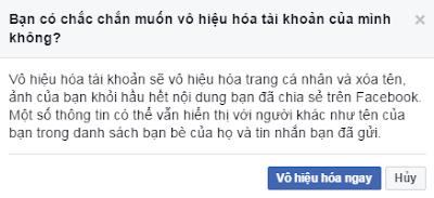 tạm khóa facebook đơn giản