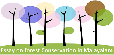 Essay on forest Conservation in Malayalam
