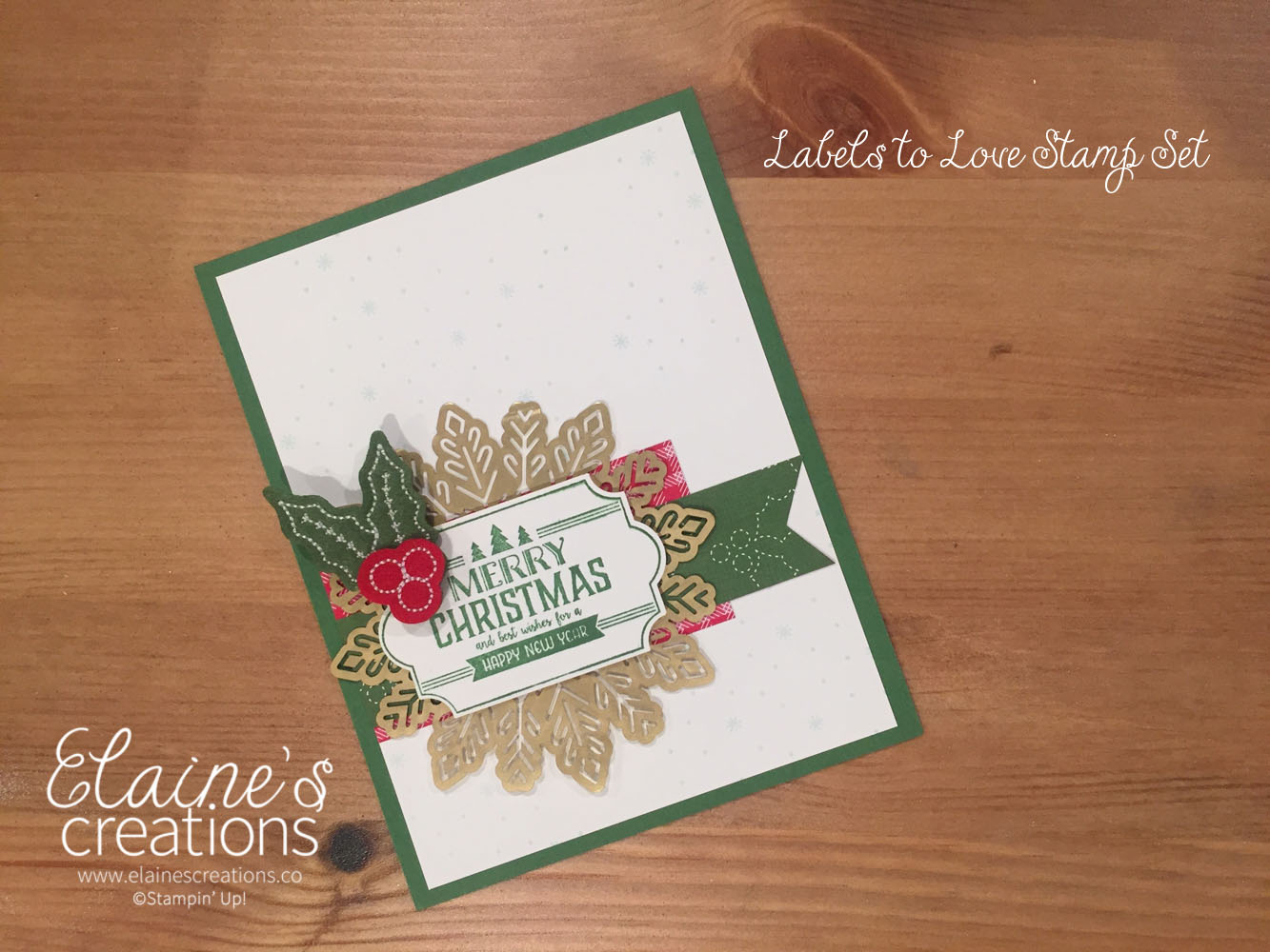 Elaine\'s Creations: Labels to Love Christmas Card