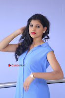 Telugu Actress Mounika UHD Stills in Blue Short Dress at Tik Tak Telugu Movie Audio Launch .COM 0075.JPG
