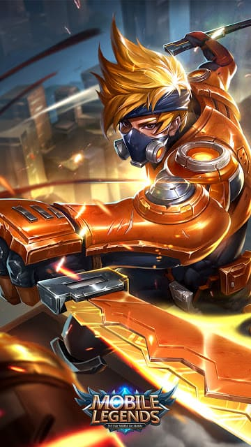 Wallpaper Hayabusa Spacetime Shadow Skin Mobile Legends for Android and iOS
