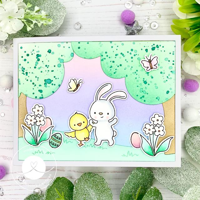 Hello Bluebird Easter Egg Hunt Fairy Garden