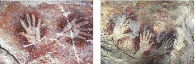 Pola Lukisan Tangan di Dinding Gua Tempat Tinggal atau Hunian Manusia Purba Pada Zaman Batu