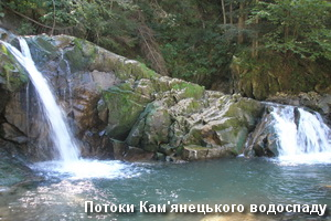 Потоки водоспаду