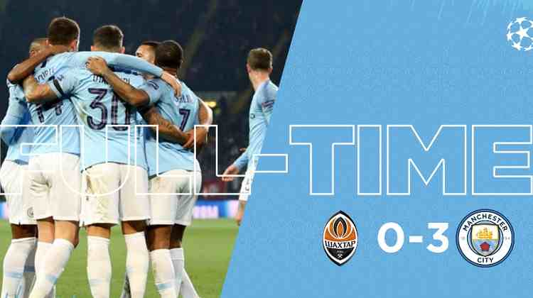 Hasil Shakhtar Donetsk vs Manchester City Skor Akhir 0-3