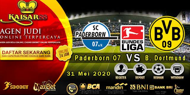 Prediksi Bola Terpercaya Liga Bundesliga Paderborn 07 vs Borussia Dortmund 31 Mei 2020