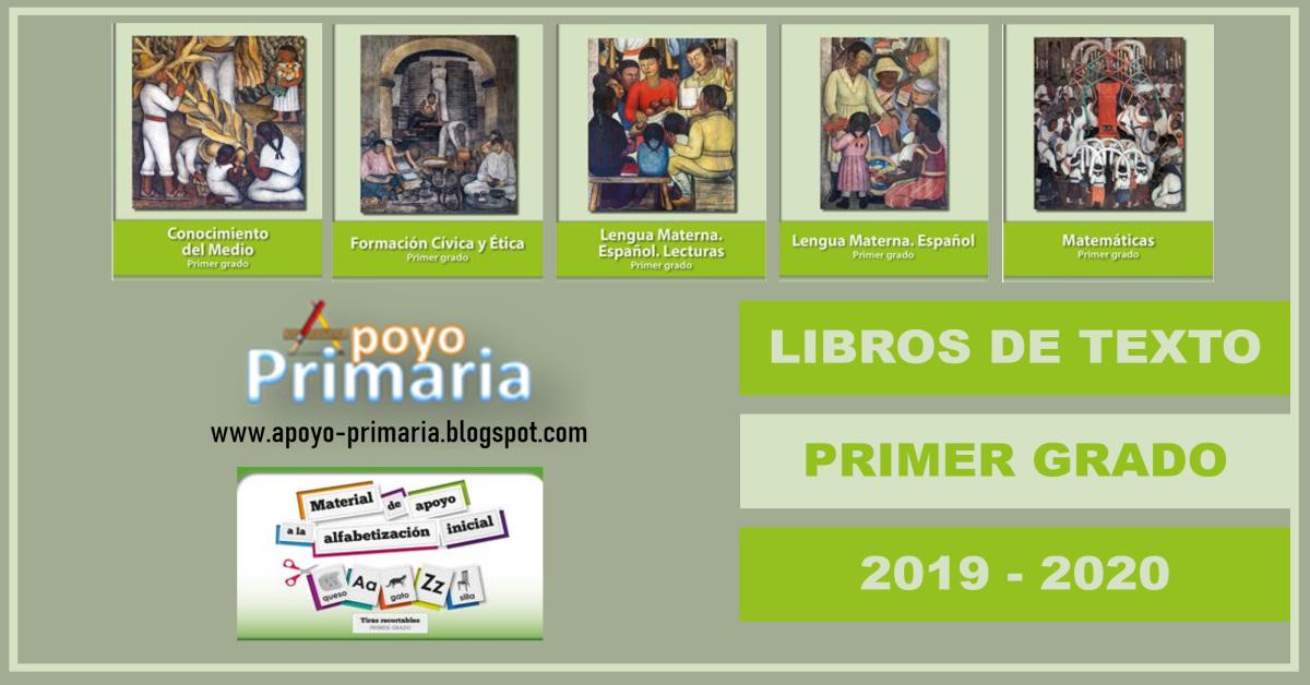 Libros De La Sep Para Primer Grado 2019 2020 Apoyo Primaria