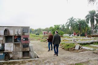 Prefeitura de Registro-SP amplia ossuários do Cemitério da Paz