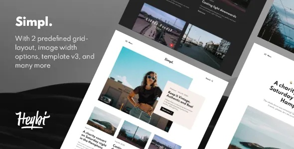 Best Responsive Grid-layout Theme for Blogspot