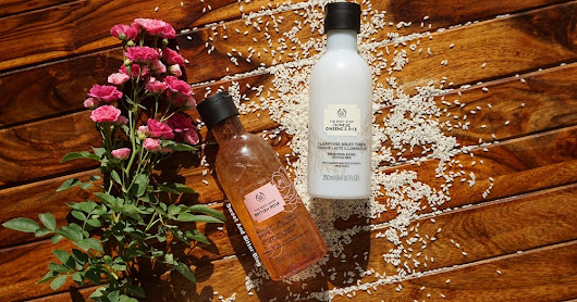 The Body Shop British ROSE Petal-Soft GEL TONER & Chinese GINSENG and RICE Clarifying MILKY TONER Review