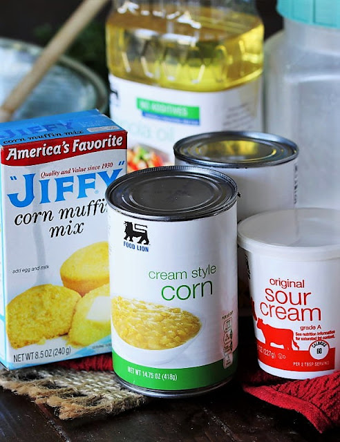 Country Corn Casserole Ingredients Image