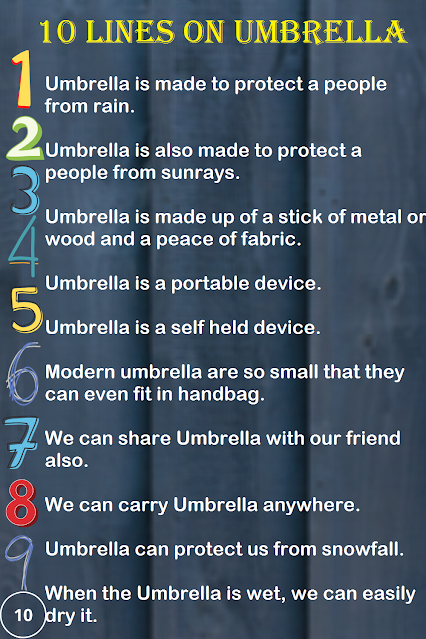 Few Lines on Umbrella