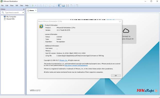 VMware Workstation Pro 12.5.7 Offline Installer Free Download
