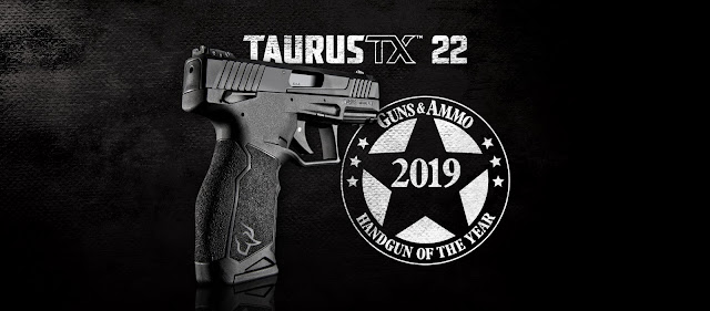 https://www.ammoland.com/2019/11/taurus-tx22-named-guns-ammo-handgun-of-the-year/#axzz65wqkOgNA