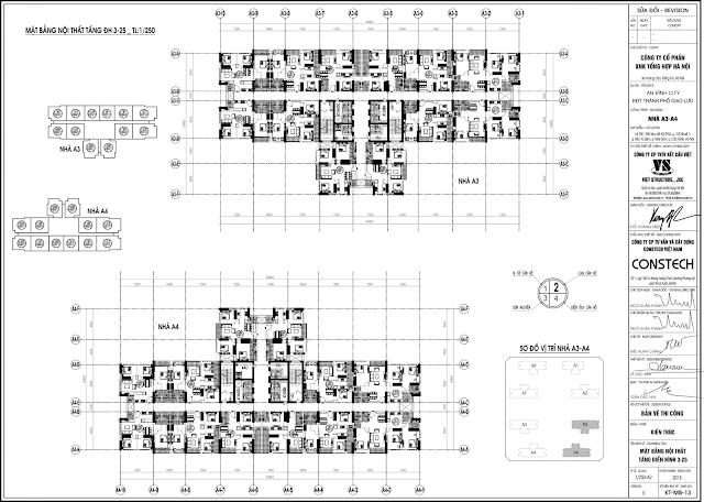 mặt bằng điển hình tòa A3 - A4 An Bình City