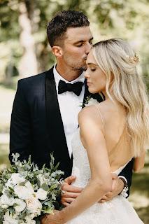 Roman Josi And His Wife At Wedding