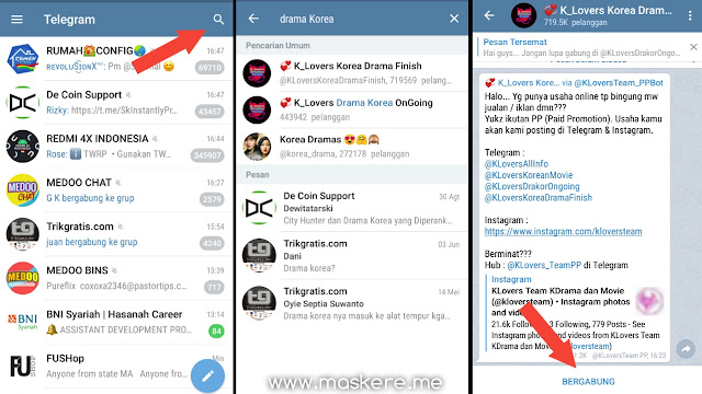 Cara Mencari Channel Nonton Drama Korea di Telegram