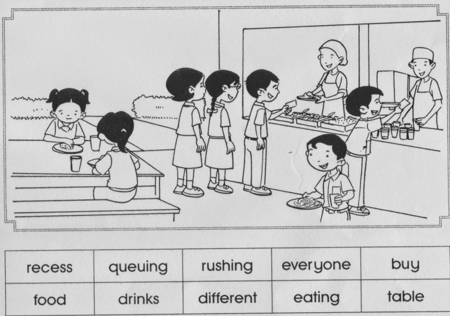 ( Recess time at Marina's school)