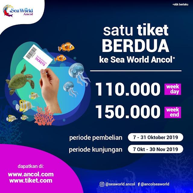#SeaWorld - #Promo Ancol Seaword 1 Tiket Berdua (07 - 31 Okt 2019)