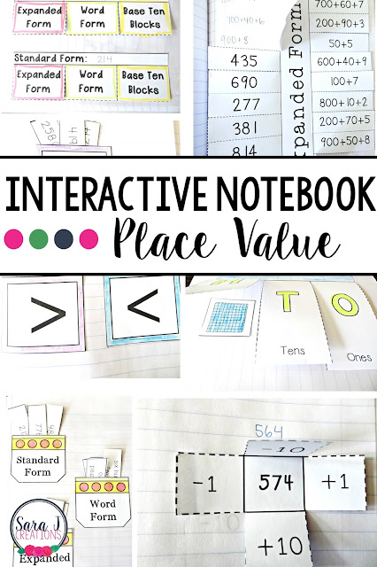 Use place value interactive notebooks to give your students a resource tool that they can use as they learn this concept. Perfect for second grade.