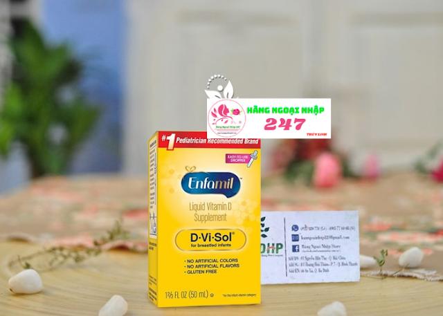 Thuốc bỏ nhỏ giọt Enfamil d-v-sol-50ml
