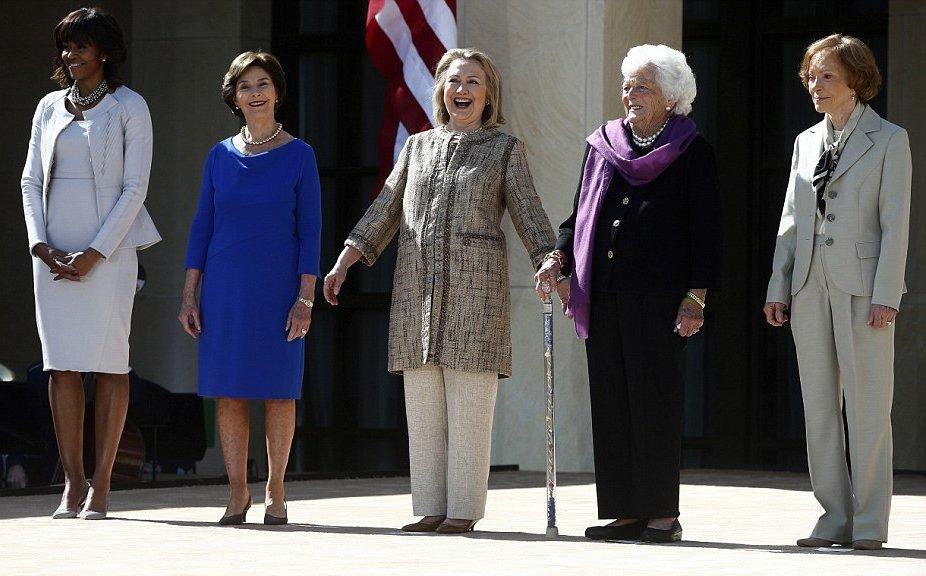 Obama E Antecessores Na Inauguracao Da Biblioteca George W Bush Em Dallas Vanderlan S Blog