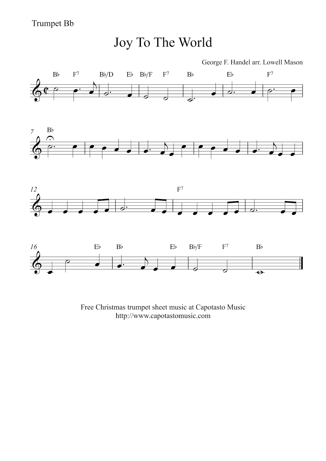 photograph relating to Free Printable Sheet Music for Trumpet identify Pleasure In the direction of The World-wide Totally free Xmas trumpet sheet tunes