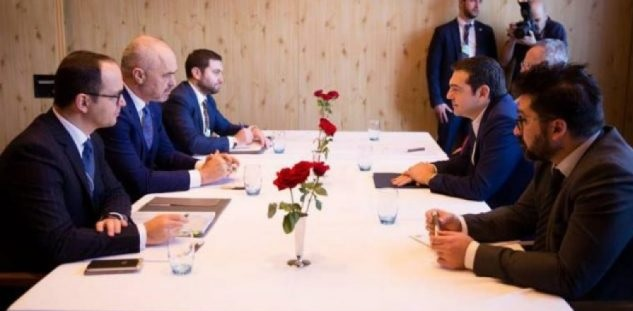 Albanian and Greek government delegation meeting