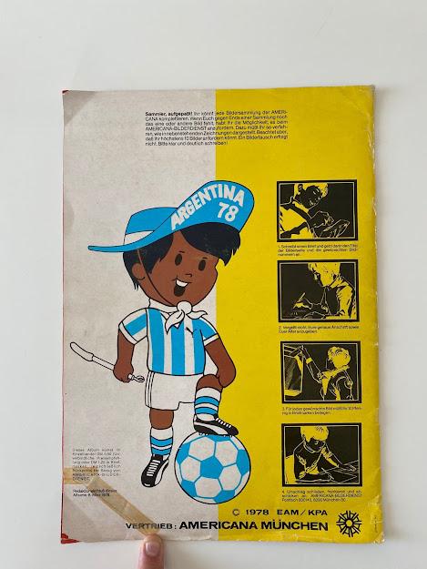 Argentina 78 quarta di copertina