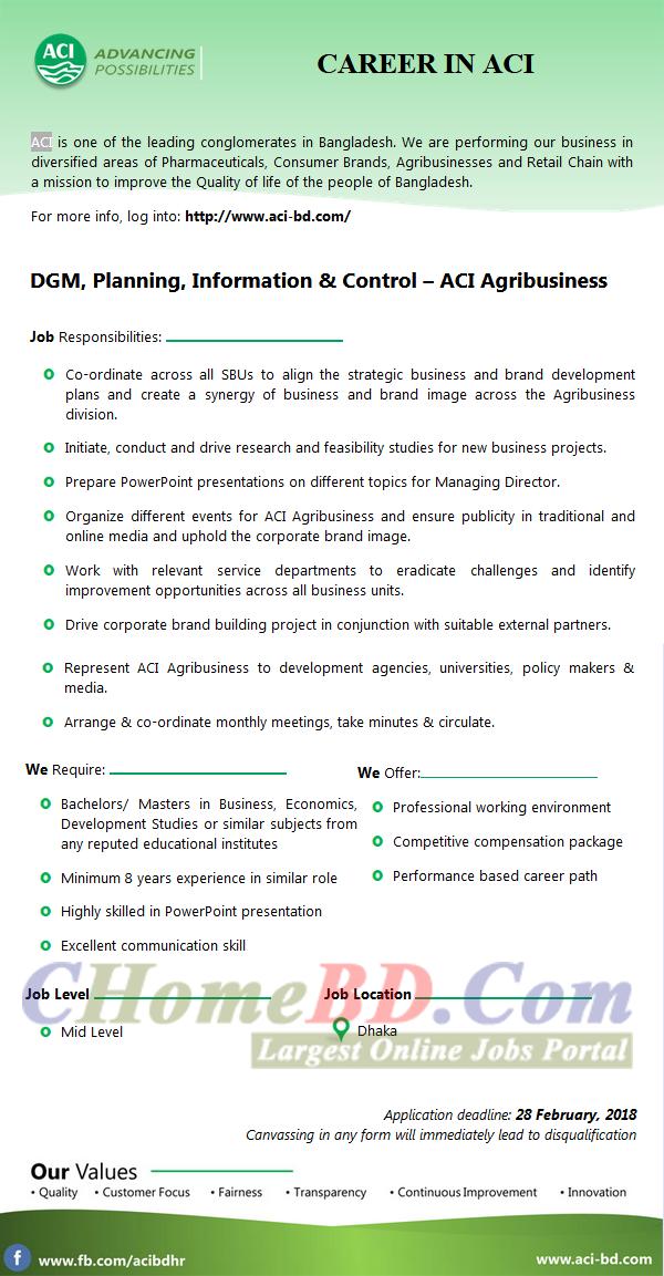 ACI Pharmaceutical Limited Job Circular 2018