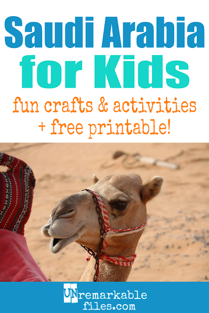 Learning about Saudi Arabia is fun and hands-on with these free crafts, ideas, and activities for kids! #Saudi Arabia #educational #mecca #islam
