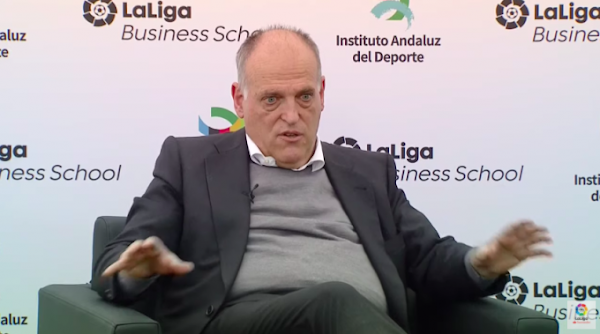 """Javier Tebas: """"La situación del Málaga es casi buena"""""""