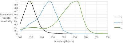 spectral sensitivity functions of the honeybee (Apis mellifera) receptors