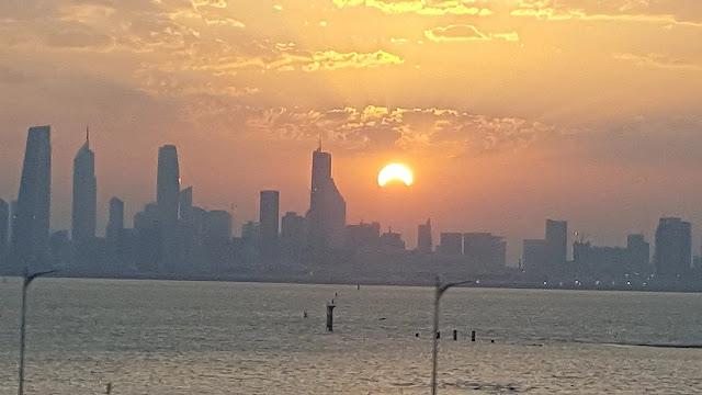 26-December-2019 Surya Grahan as seen in Kuwait