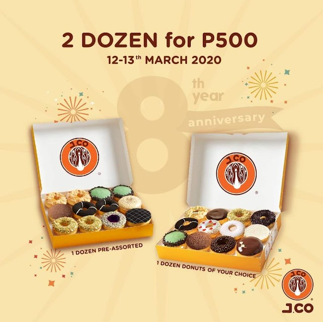 JCO Philippines Celebrates 8th Year Anniversay with 2 Dozens Donuts for PHP 500