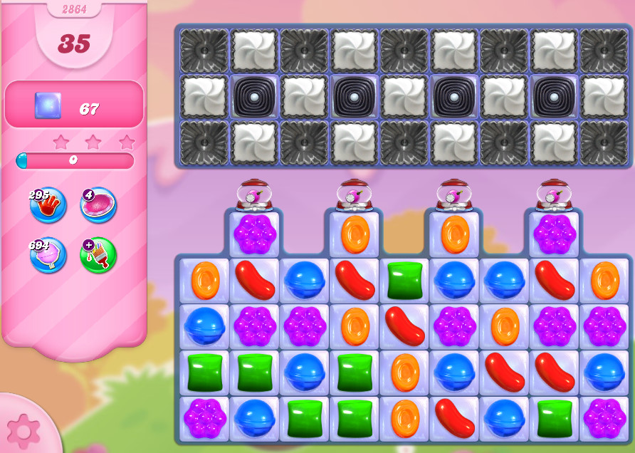 Candy Crush Saga level 2864