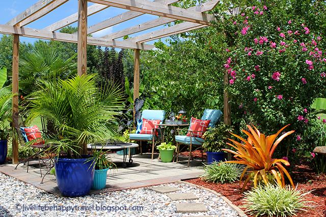 Live Life Be Happy: Tropical Backyard Garden - Arkansas