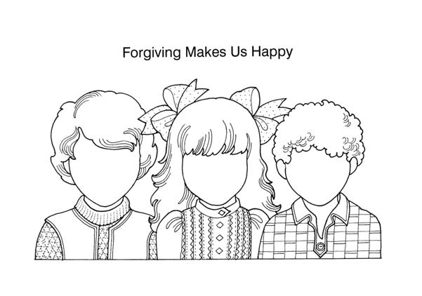 LDS ACTIVITY IDEAS I Can Forgive Game and Coloring Page