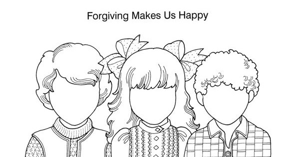 LDS ACTIVITY IDEAS: I Can Forgive Game and Coloring Page